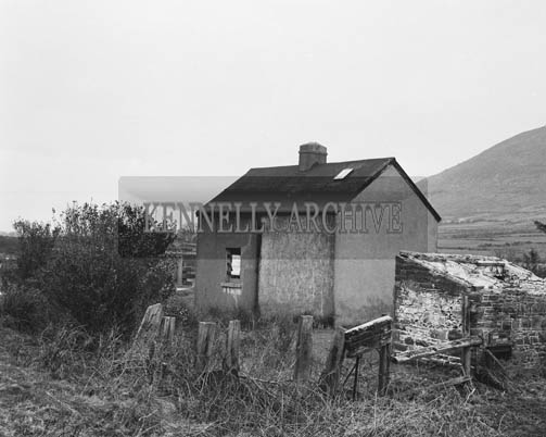 7th March 1964; The CIE House at Renard, bought by Peadar Keogh of RTE at the South Kerry Rail Auction.