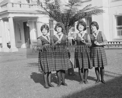 13th March 1964; Students at Colaiste Ide Dingle, who won the Munster debating Cup.