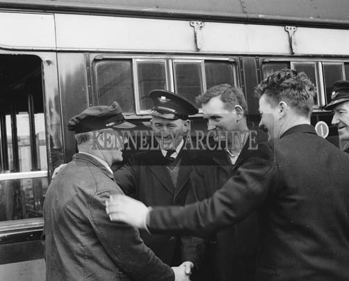 March 1964; CIE Staff in Casement Station in Tralee.