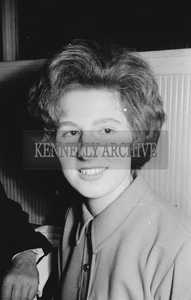 25th November 1964; A woman at the Ballymacelligott GAA Social in the Hotel Manhattan, Tralee.