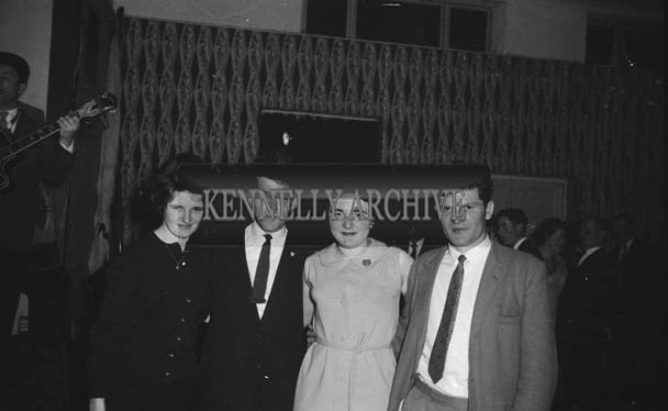 25th November 1964; People enjoying themselves at the Ballymacelligott GAA Social in the Hotel Manhattan, Tralee.