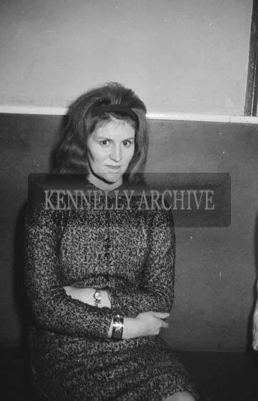 6th December 1964; A woman at a dance in Ballymacelligott.