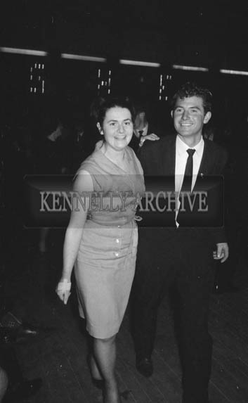 11th December 1964; People enjoying themselves at a dance in the Ashe Hall in Tralee.