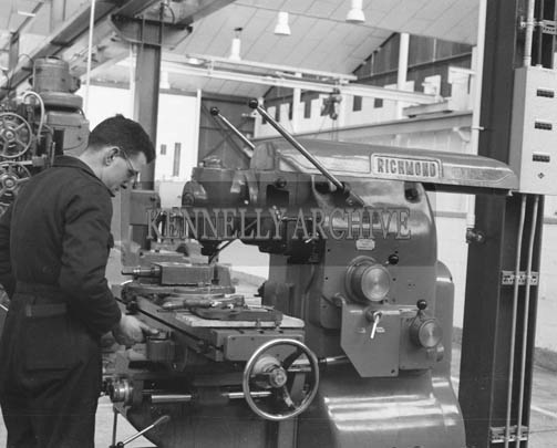 25th May 1964; A photo taken in the Kerry Precision Ball Bearing Company in Tralee. The factory was the first of its type in Ireland.