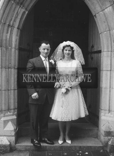 April 1964; A photo of a wedding in St. John's Church, Tralee.