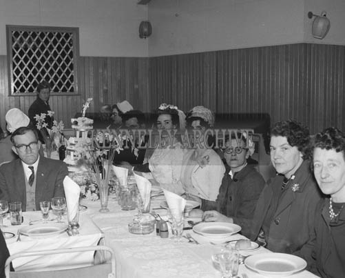 April 1964; A photo taken at a wedding reception in the Listowel Arms Hotel.