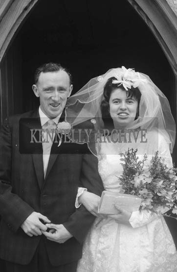 April 1964; A photo taken at a wedding in the Church of the Immaculate Conception (St Catherine's), Tralee.