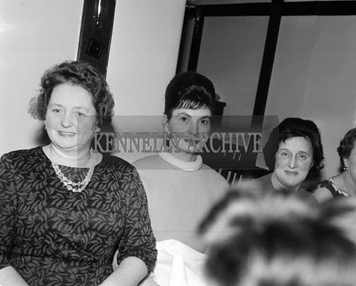 December 1964; A photo taken at the ICA annual dinner in Benners Hotel.