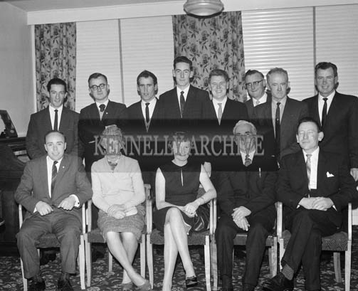 12th December 1964; A group of people pose for the camera at the Mountaineering Social in the Meadowlands Hotel in Tralee.