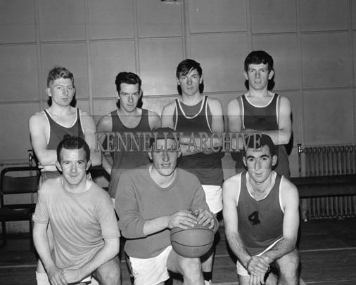 December 1964; A photo of a basketball team in the CYMS in Tralee.