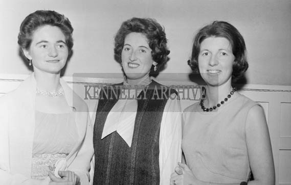 10th December 1964; A group of women pose for the camera at the NFA in the Meadowlands Hotel in Tralee.