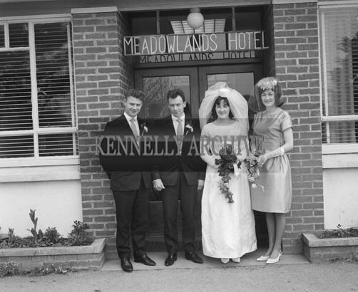 April 1964; A Photo of a wedding reception in the Meadowlands Hotel in Tralee.