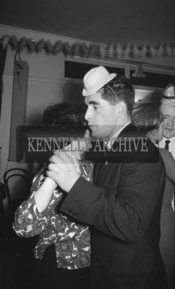17th December 1964; People enjoying themselves at the Knitwear Social in the Meadowlands Hotel in Tralee.
