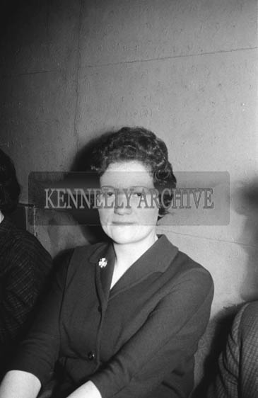 21st December 1964; A woman at a dance in the Ashe Hall, Tralee.