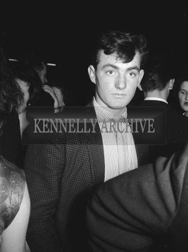 21st December 1964; A man at a dance in the Ashe Hall, Tralee.
