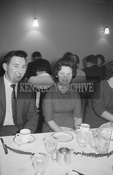 20th December 1964; People enjoying themselves at the Kerry Precision Ball Company Social in the Meadowlands Hotel, Tralee.