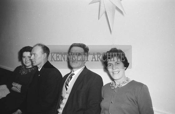 20th December 1964 ; People enjoying themselves at the Kerry Precision Ball Company Social in the Meadowlands Hotel, Tralee.
