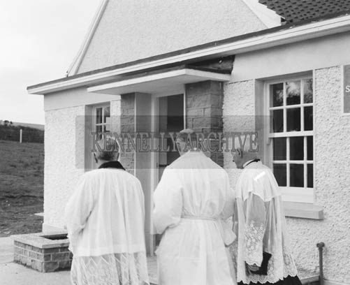 20th April 1964; A photo taken at the opening and blessing of Cappa National School in Kilflynn.