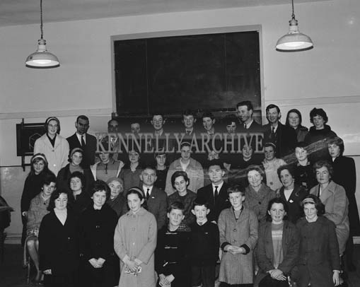 December 1964; A photo taken at the Red Cross Safety First Lecture in the Technical School in Tralee. The Lecture was delivered by Dr. Theodore Kozlik as part of the Campaign for Road Safety First Aid.