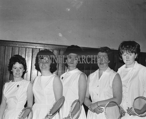 December 1964; A photo of the Kerry Badminton Team who were beaten by Clare in the first round of the Brewster Cup after some thrilling matches in the KPH, Tralee.
