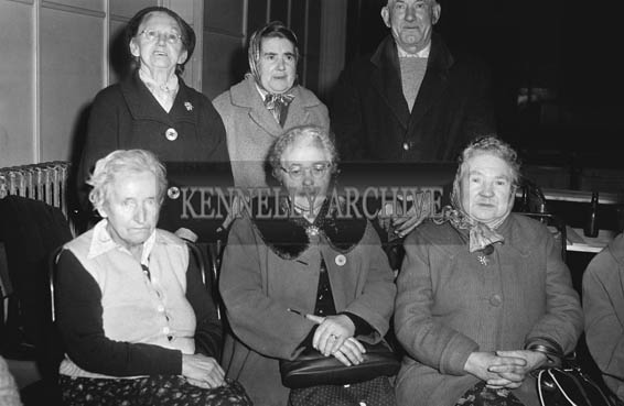 Sunday20th December 1964; A photo taken at the Kerry Red Cross Senior Citizen's Christmas Party in Tralee CYMS.