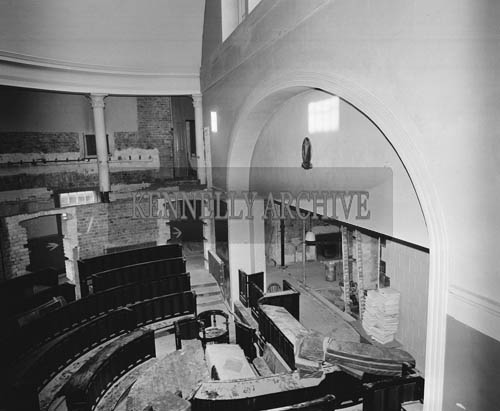 December 1964; An interior photo of Tralee Courthouse, Ashe Street.