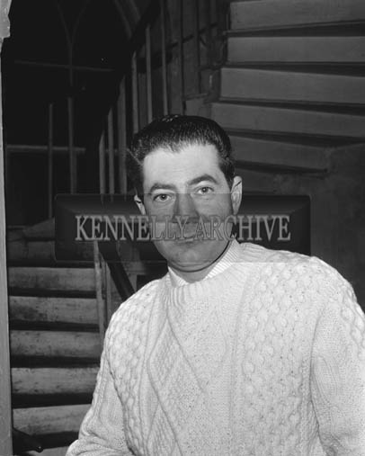December 1964; A photo of Murt Walsh, St. Brendan's Park, in Kennelly's house in Ashe Street, Tralee.