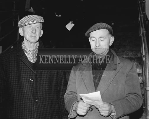 29th December 1964; Jim Brosnan (left) at the Kingdom Cup coursing meeting in Ballybeggan Park, Tralee.
