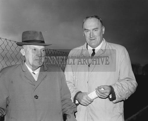 29th December 1964; County Manager Pat O'Halloran (right) at the Kingdom Cup coursing meeting in Ballybeggan Park, Tralee.
