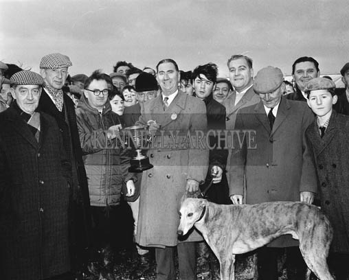29th December 1964; The prize presentation at the Kingdom Cup coursing meeting in Ballybeggan Park, Tralee.