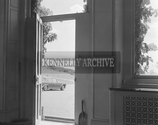 July 1973; The interior of the house in Trabolgan which was bought by Gaedhealachas Teo in 1958 and was a boarding school for boys called Scoil na nOg up until 1973.