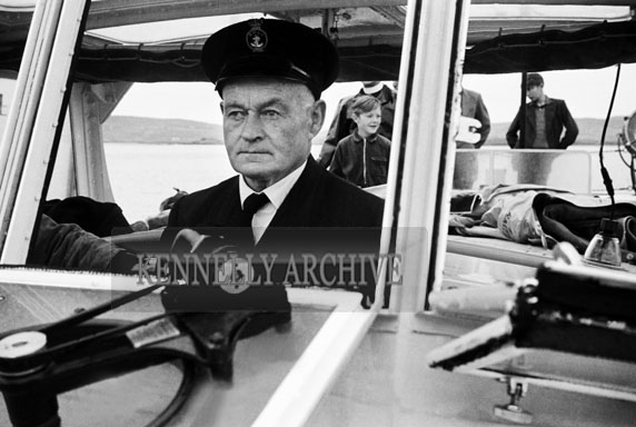 1953; A Photo Of The Rowland Watts Life Boat And Captain At Valentia Pier.