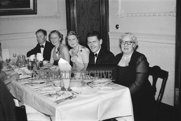 January 1954; A Group Of People Enjoying Dinner At The Golf Dress Dance And Dinner In Killarney .