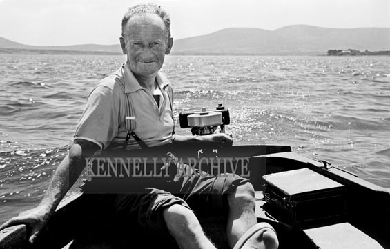 1953; A Man On A Boat Trip Off Valentia Island.