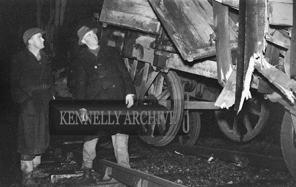 January 1954; A Train accident.