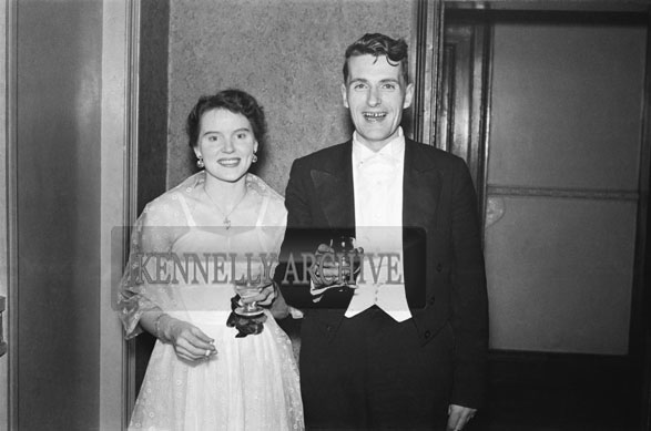 January 1954; A Couple Posing At The Golf Dress Dance And Dinner In Killarney .
