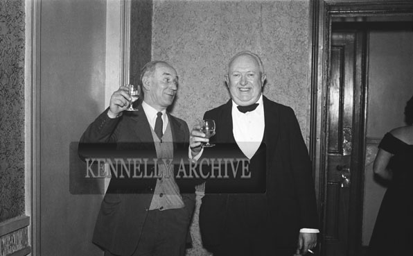 January 1954; Two Men Enjoying Themselves At The Golf Dress Dance And Dinner In Killarney .