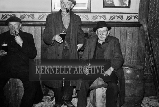 19th February 1954; Group Of Men Enjoying The Celebrations In Abbeydorney As The Abbeydorney National Ploughing Champions Are Welcomed Home.