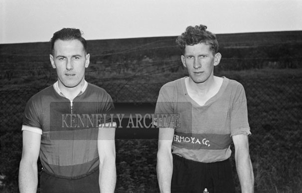 16th September 1956; Two cyclists who competed in the race at the Kerry Sports Day Out which took place in Austin Stacks Park in Tralee.
