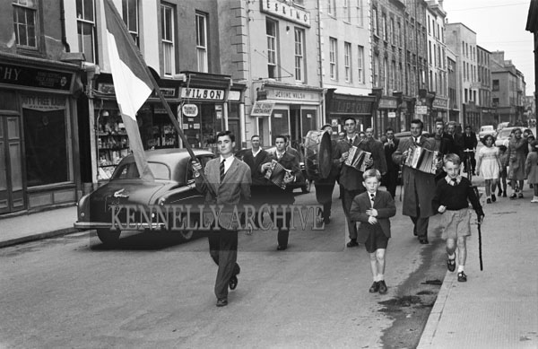 16th September 1956; The parade for the Kerry Sports Day Out which took place in Austin Stacks Park in Tralee.