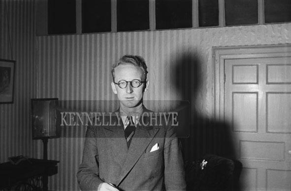 April 1954; A Passport Photo of A Man.