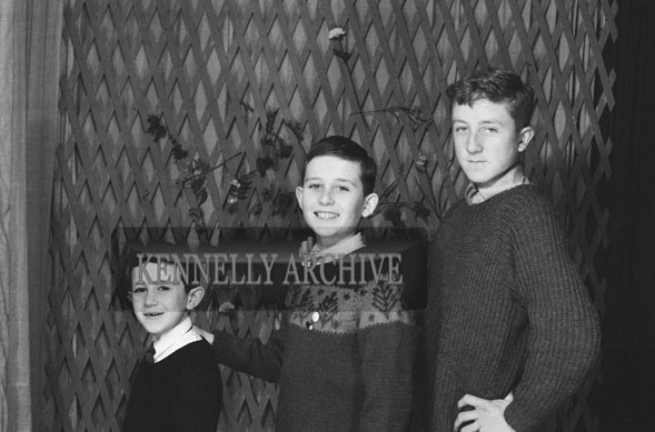1953; A Studio Photo Of Three Brothers.