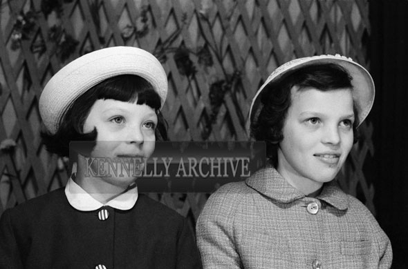 1953; A Studio Photo Of Two Confirmation Girls.