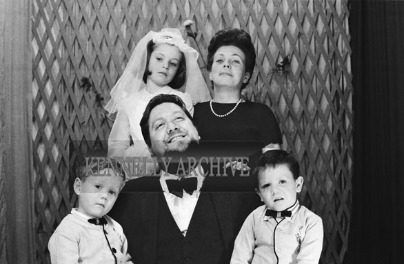 1953; A Studio Photo of Ernie and Miriam Evans and family on Caraghs' First Holy Communion.