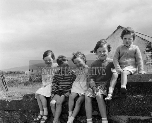 15th June 1964; A photo of a group of children in Fenit.