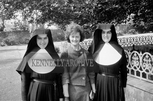 18th May 1962; A photo taken of a woman with two nuns on Communion Day in Dingle.