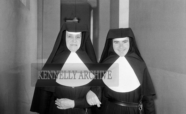 18th May 1962; A photo taken of two nuns on Communion Day in Dingle.