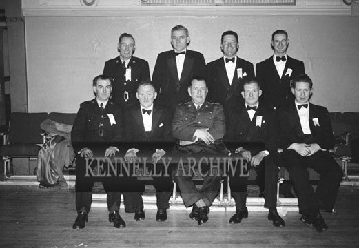 6th February 1957; A photo of Tralee Garda Dress Dance Organising Committee at the Garda Dress Dance Tralee. The Dinner was in the CYMS, catering by the Brass Rail Restaurant, and the Dance was in the Ashe Hall. Music was by The Del Rio Dance Band.