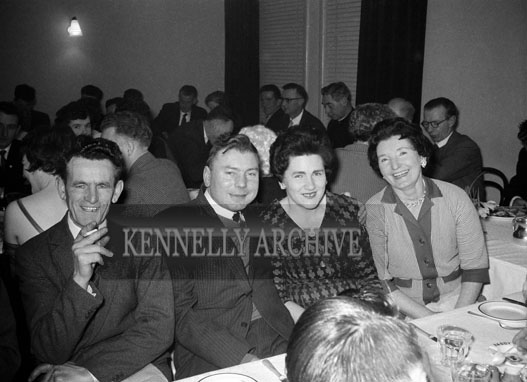 24th February 1962; People enjoying the night at the Kerins O'Rahillys Social which took place at the Meadowlands Hotel. The music on the night was provided by the Kingdomaires Showband.