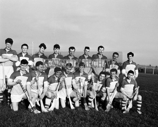 8th November 1964; A photo of the Offaly Senior Hurling team in Austin Stack Park, Tralee before a Division II (Group B) National Hurling League Game against Kerry that ended in a draw 6-10 to 6-10.